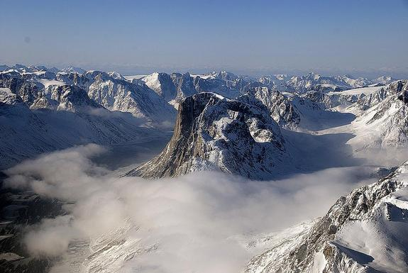 Sukkertoppen Isflade, a small ice cap in the southwest Greenland mountains.