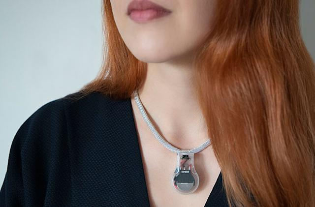 NASA made a necklace that reminds you not to touch your face