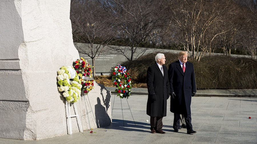 Trump visits MLK Memorial, after skipping trip in 2018