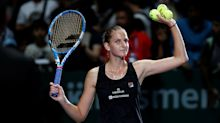 WTA Finals begins with 2 surprise results as Pliskova, Svitolina triumph
