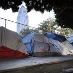 The Latest: Trump says he'll do something about homelessness