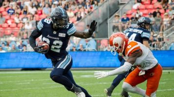 Franklin's late TD earns Toronto Argonauts 24-23 home win over B.C. Lions