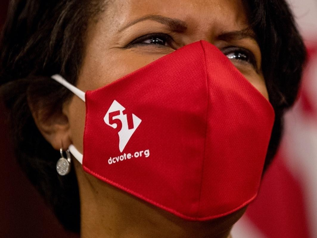 Mayor Muriel Bowser said she was signing a mayor's order Wednesday to require all District residents wear face masks when they're in public.