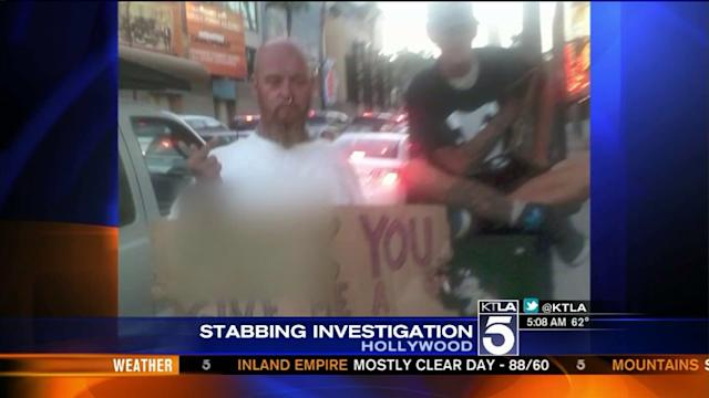 Woman Stabbed By Hollywood Transients