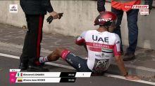 Cyclisme - Giro : Molano, un virage trop serré puis la chute