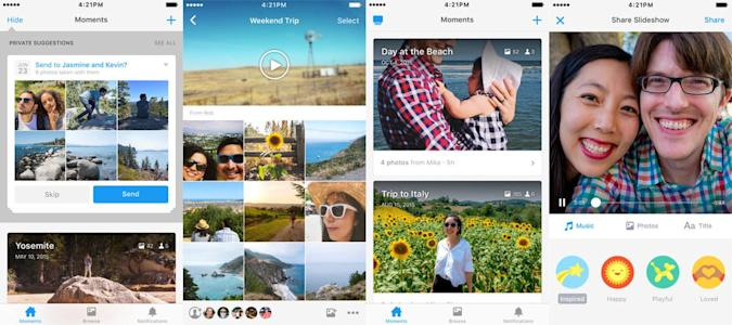 Facebook pushes users to download its Moments app