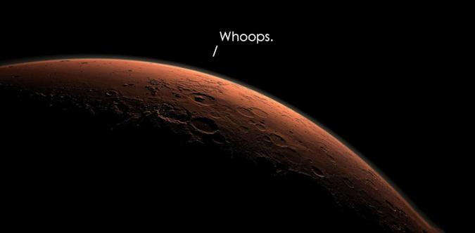Mars probe crashed because it misjudged where the ground was