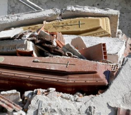 Italy's earthquake shakes even the dead