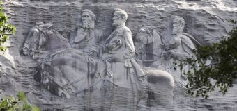 Park with Confederate sculpture shuts gates to rally