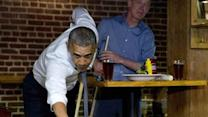Raw: Obama Shoots Pool in Denver
