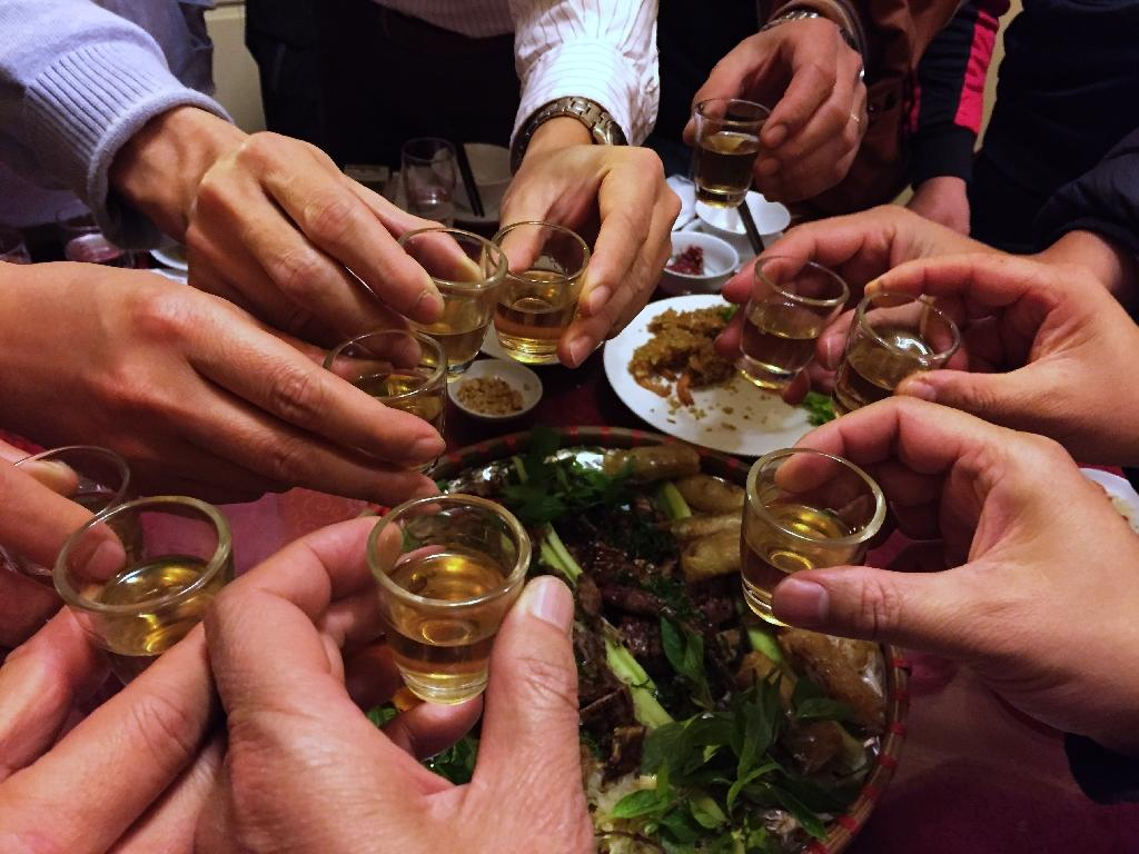 Karaoke is popular across Vietnam, and the singing sessions are often fuelled by heavy alcohol consumption (AFP Photo/HOANG DINH NAM)