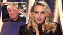 Kate McKinnon Recalls 'Scary' Coming Out Experience in Emotional Golden Globes Tribute to Ellen DeGeneres