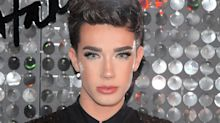 James Charles sang a holiday jingle for his makeup routine: 'Bake your face, slap it harder'