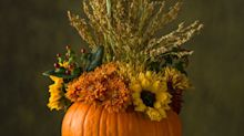 A Pumpkin Vase And Other Creative Thanksgiving Flower Arrangements