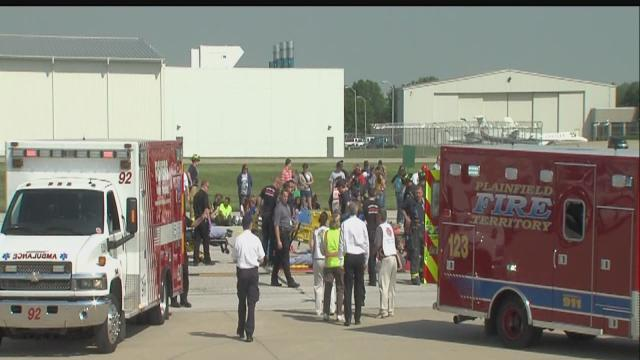 Indianapolis International Airport holds mock disaster training event Wednesday