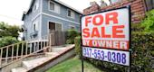 "A ""For Sale by Owner"" sign is posted in front of property in Monterey Park, California on April 29, 2020. (Getty Images)"