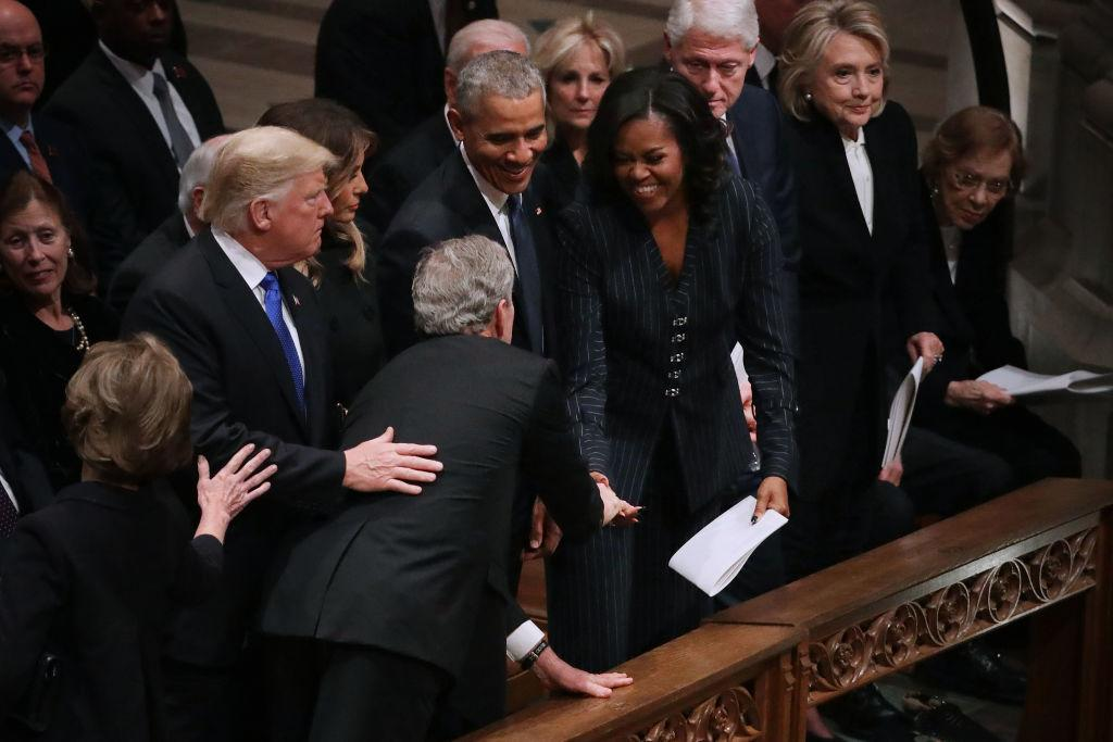 The Sweet Moment Between George W Bush And Michelle Obama Video
