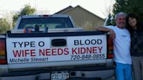 Husband turns truck into rolling plea for kidney donor