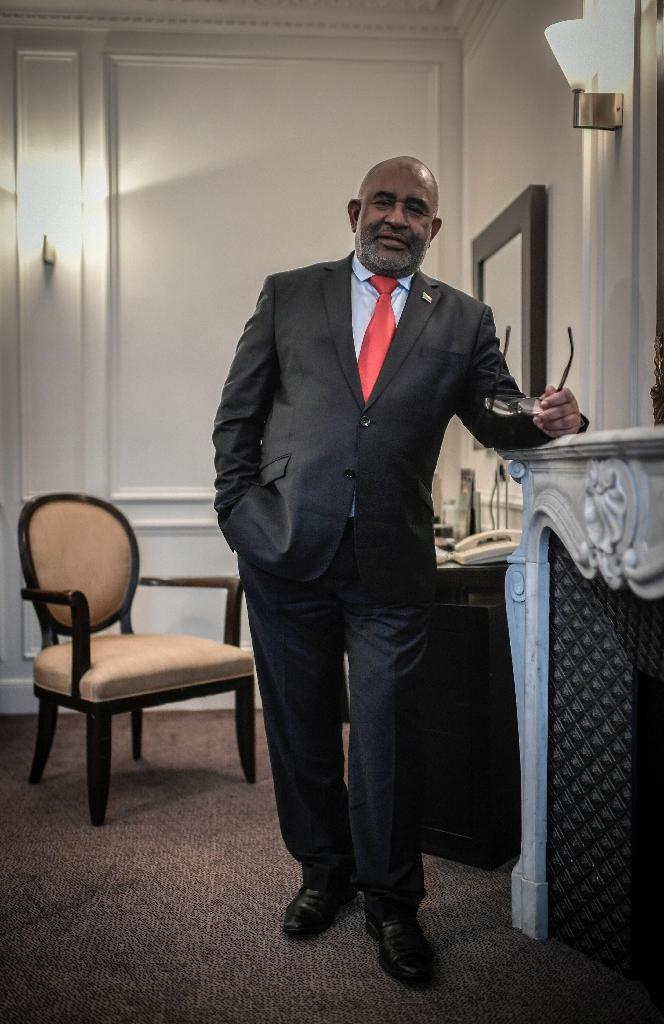 Comorian President Azali Assoumani faces widespread criticism from international monitors over a referendum last year on constitutional changes which could allow him to remain in power until 2029 (AFP Photo/STEPHANE DE SAKUTIN)