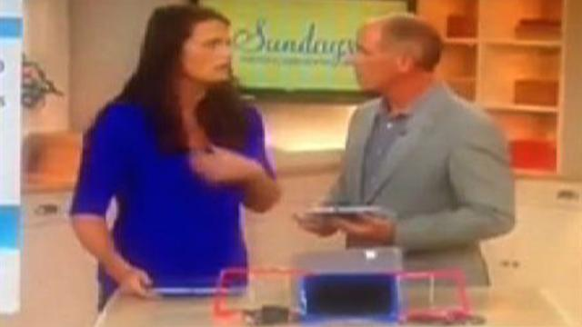 QVC host appears to faint while on-air