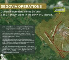Gran Colombia Gold Provides Exploration Update for Its Segovia Operations