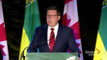 Saskatchewan election 2020: Scott Moe lays out plans for next term, slams federal carbon tax