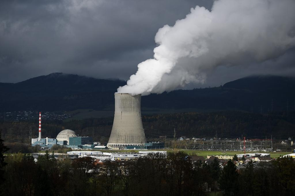 View of the Goesgen Nuclear Power Plant near Daeniken, northern Switzerland