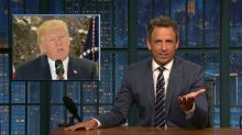 'Lying racist who's desperate for praise': Seth Meyers on Trump's Charlottesville press conference