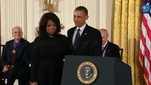 Bill Clinton and Oprah among recipients of Medal of Freedom