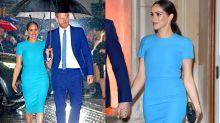 Meghan Markle usa vestido de R$ 5 mil da grife de Victoria Beckham