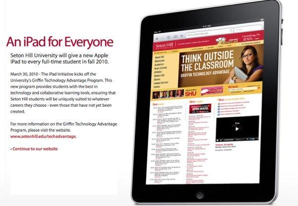 Seton Hill University hands out iPads to students