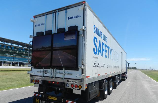 Samsung's Safety Truck concept starts testing in Argentina