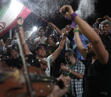 Rare night of street parties in Iran after Rouhani win