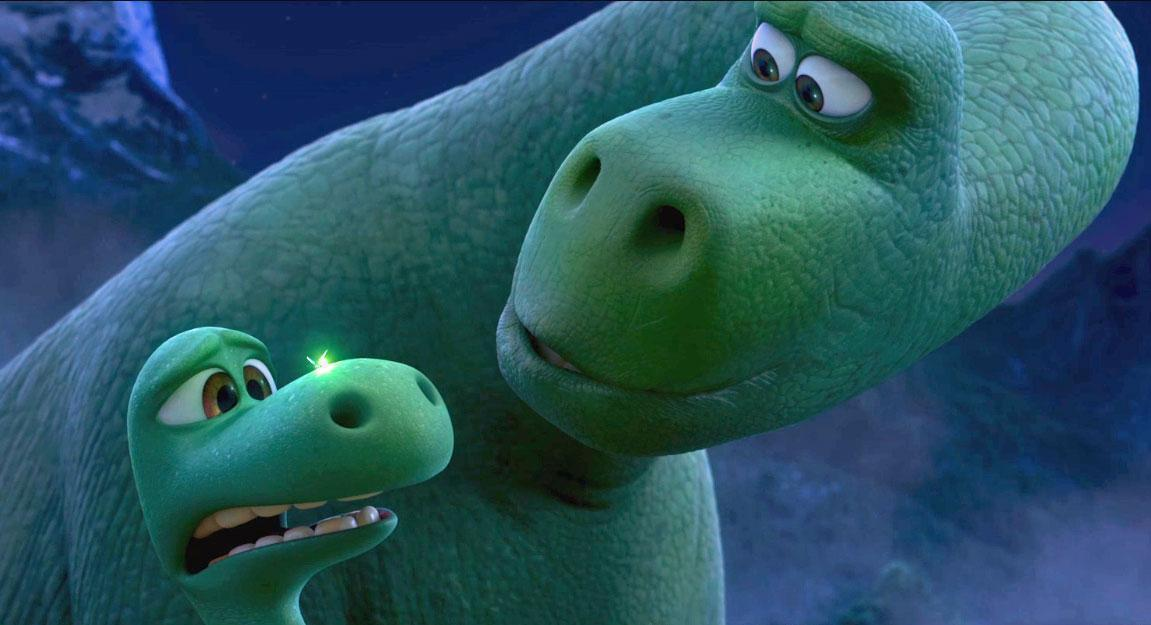 a scene from Pixar's The Good Dinosaur