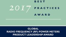 Frost & Sullivan Recognizes Boonton Electronics for Its Global Product Leadership in Radio Frequency Power Meters