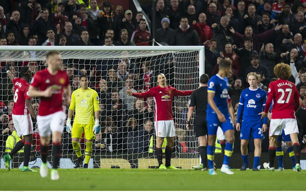 Zlatan Ibrahimovic Manchester United vs Everton - REX