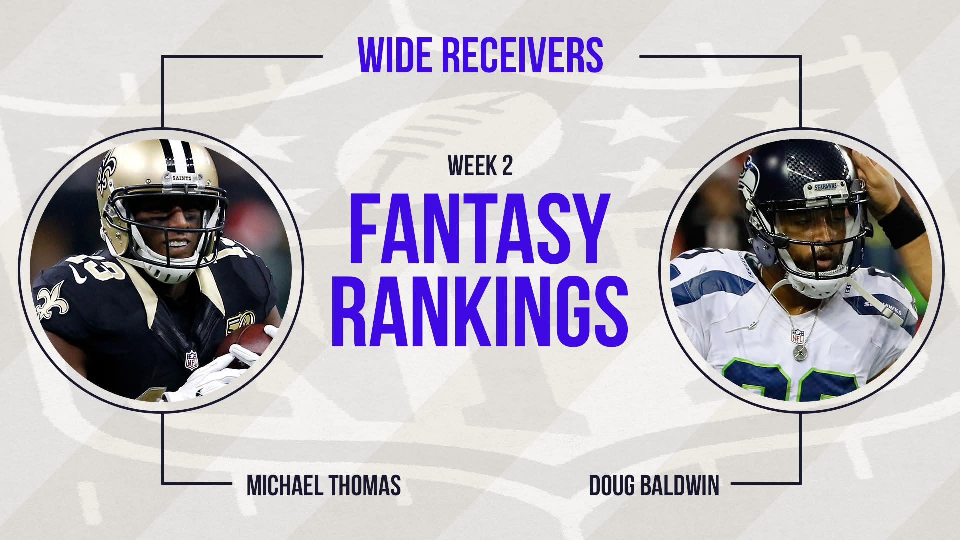 Week 2 Fantasy Football Rankings Wide Receiver