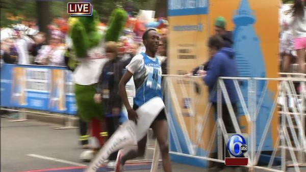Male winner of Broad Street Run talks
