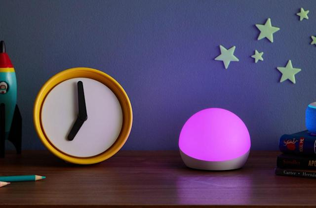 The Echo Glow is a $30 voice-controlled nightlight