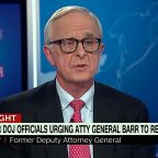 George H.W. Bush deputy attorney general says ex-colleague Barr is creating a 'banana republic'
