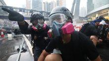 Hong Kong: por primera vez hubo disparos en las marchas