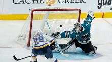 Blues rally past Sharks 7-6 after Binnington meltdown