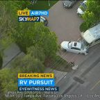 RV suspect in custody after leading police on wild chase through San Fernando Valley