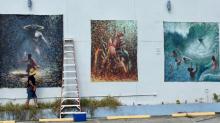 """Pintura de um artista é removida na Flórida depois de reclamações de ser obra """"satânica"""""""