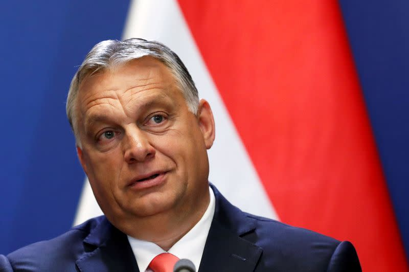 FILE PHOTO: Hungary's PM Orban holds news conference in Budapest