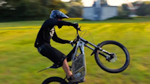 This motocross bike is lightweight, powerful, and completely electric