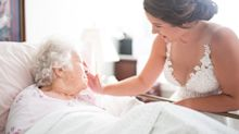 Bride visits dying grandmother in her wedding dress knowing she wouldn't live to see her big day