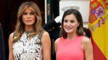 El encuentro (de moda) de la reina Letizia y Melania Trump