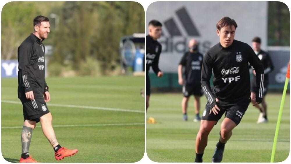 Lionel Messi Paulo Dybala Other Argentine Players Prepare For Arg Vs Ecu 2022 Fifa World Cup Qualifier See Pics