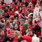 Thousands of Indiana teachers convene for massive 'Red for Ed' rally